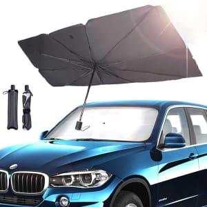 NGFF Car Windshield Sun Shade Umbrella for $9