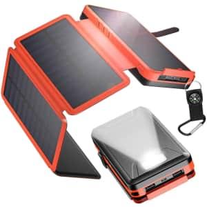 Iesafy 26,800mAh Solar Power Bank for $20