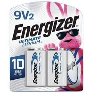 Energizer 9V Batteries, Ultimate Lithium, 2 Count for $18