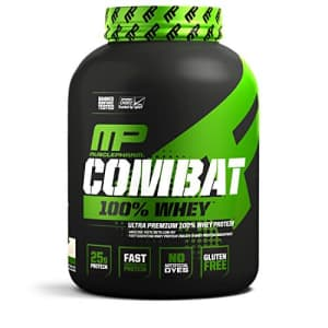 Muscle Pharm MusclePharm Combat 100% Whey, Muscle-Building Whey Protein Powder, Vanilla, 5 Pounds, 73 Servings for $66