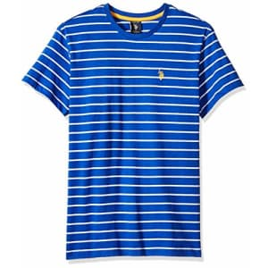 U.S. Polo Assn. Men's Thin Stripe Crew Neck T-Shirt, Blue raft, XL for $19