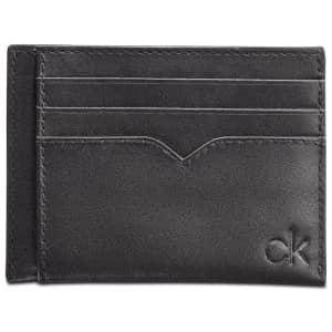 Calvin Klein Leather Logo Card Case for $17