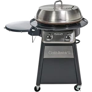"""Cuisinart 22"""" Round Flat Top Gas Grill w/ 360-Degree Griddle Cooking Center for $264"""