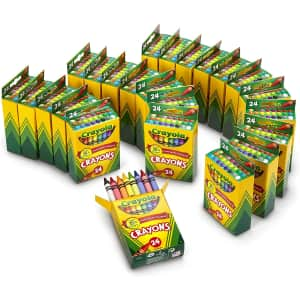 Crayola Crayons 24-Count Bulk Supplies 24-Pack for $29