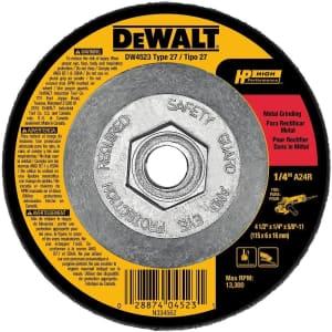 DeWalt Grinding Wheel for $3