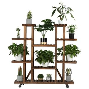 SmileMart 4-Tier 9-Shelf Plant Stand for $59
