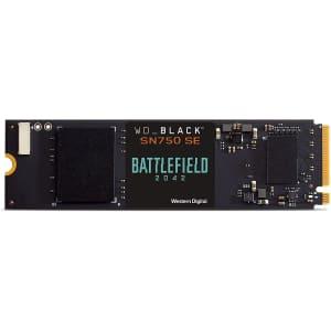 WD Black SN750 500GB M.2 PCIe SE NVMe SSD for $90