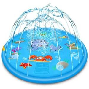 "Ephiioniy 66.9"" Splash Pad and Sprinkler for $9"