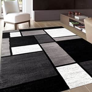 """Rugshop Contemporary Modern Boxes Area Rug 7' 10"""" X 10' 2"""" Gray for $150"""