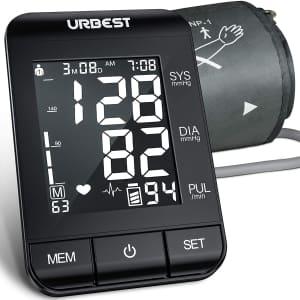 Urbest Upper Arm Digital Blood Pressure Cuff for $20