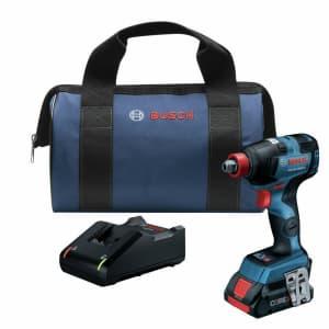 """Bosch 18V EC 1/4"""" / 1/2"""" Impact Driver Kit for $89"""