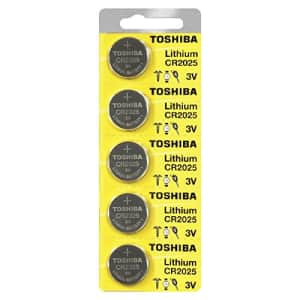 Toshiba CR2025 Battery 3V Lithium Coin Cell (50 Batteries) for $18