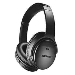 Bose QuietComfort 35 (Series II) Wireless Headphones, Noise Cancelling - Black (Renewed) for $182
