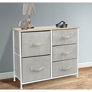Sorbus Dresser with 5 Drawers - Furniture Storage Tower Unit for Bedroom, Hallway, Closet, Office for $68