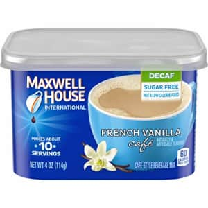 Maxwell House International Decaf Sugar-Free French Vanilla Instant Coffee (4 oz Canisters, Pack of for $3