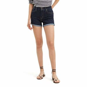 Levi's Women's Mid Length Shorts, Royal Rinse, 30 (US 10) for $31