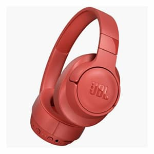 JBL TUNE 750BTNC - Wireless Over-Ear Headphones with Noise Cancellation - Coral for $130