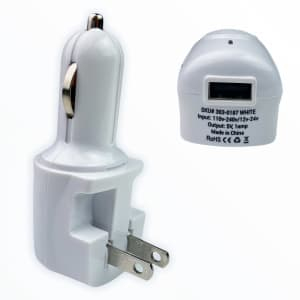 USB Wall Charger / Car Charger for $4