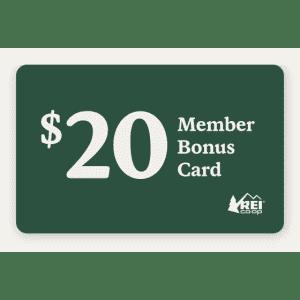 REI Membership w/ $20 REI Gift Card: for $20 w/ $50 purchase