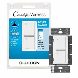 Lutron Caseta Smart Home Switch, Works with Alexa, Apple HomeKit, Google Assistant | 6-Amp, for for $65