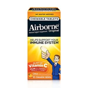 Airborne Citrus Chewable Tablets 1000 mg of Vitamin C Immune Support Supplement, 32 Count for $10