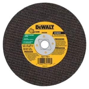 DEWALT DW3509 6-1/2-Inch x 1/8-Inch x 5/8-Inch Diamond Drive Masonry Cutting Wheel, 25-Pack for $10