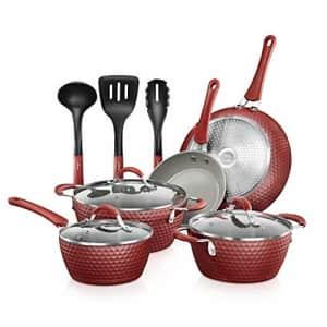 NutriChef Non-stick Kitchenware Pots & Pans - 11 Pcs. Stylish Kitchen Cookware Set w/Elegant for $112