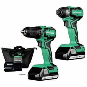 Metabo HPT Cordless 18V Drill and Impact Driver Combo Kit | Sub-Compact | Brushless Motor | for $180