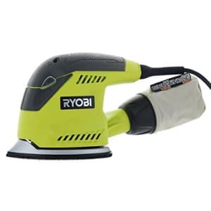 Ryobi CFS1503GK Compact Corner Cat 12,500 OPM 1.2 Amp Corded Orbital Finishing Sander w/ 10 Pads for $50