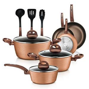 NutriChef Nonstick Kitchen Cookware Set - Professional Hard Anodized Home Kitchen Ware Pots and Pan for $96