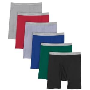 Hanes Men's Cool Dri Tagless Boxer Briefs 6-Pack for $17