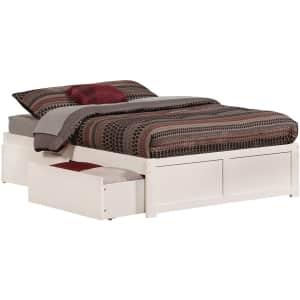 Atlantic Furniture Concord Solid Hardwood Full Platform Bed w/ 2 Drawers & USB for $360