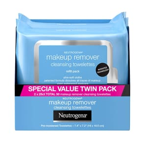Neutrogena Makeup Remover Cleansing Towelettes 50-Pack for $8