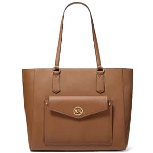 Michael Michael Kors Joey Large Leather Pocket Tote for $125