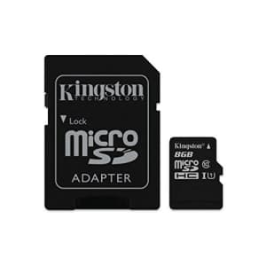 Kingston Digital 8GB Micro SDHC UHS-I Class 10 Industrial Temp Card with SD Adapter (SDCIT/8GB) for $24