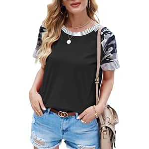 Aifer Women's Casual T-Shirt for $7