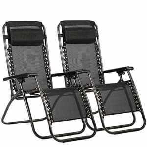FDW Zero Gravity Chair Patio Lounge Recliners Adjustable Folding Set of 2 for Pool Side Outdoor Yard for $79