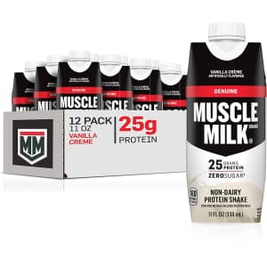Muscle Milk 11-oz. Genuine Protein Shake 12-Pack for $18