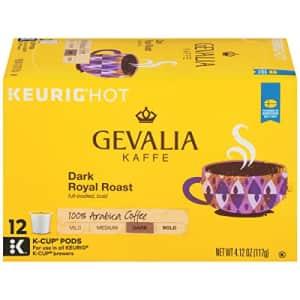 Gevalia Dark Royal Roast K-Cup Coffee Pods (72 Pods, 6 Packs of 12) for $13