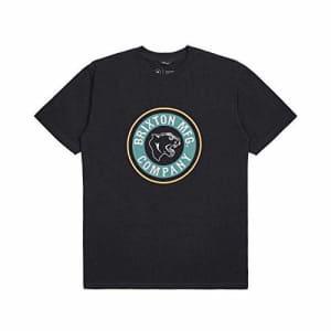Brixton Men's Forte Standard FIT Short Sleeve T-Shirt, Black/Emerald, S for $27