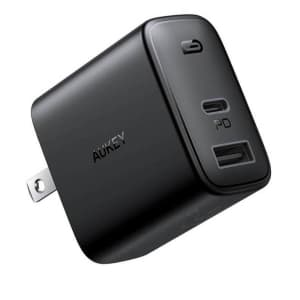 Aukey 32W Wall Charger for $9