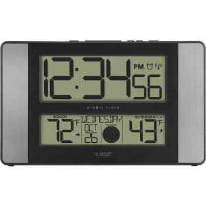 La Crosse Atomic Digital Wall Clock with Moon Phase for $29