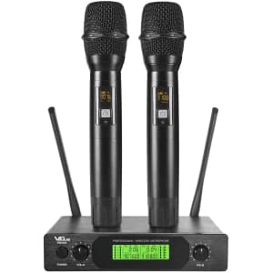 VeGue UHF Wireless Microphone Set for $100