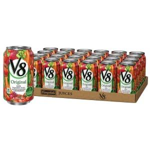 V8 Original Vegetable Juice 11.5-oz. Can 24-Pack for $11 via Sub & Save