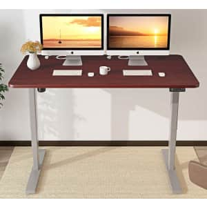 """MaideSite 48"""" Electric Height Adjustable Standing Desk for $164"""