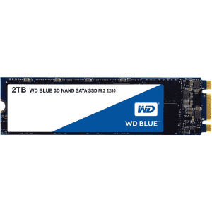 Western Digital Blue 2TB 3D NAND M.2 SATA III Internal SSD for $210