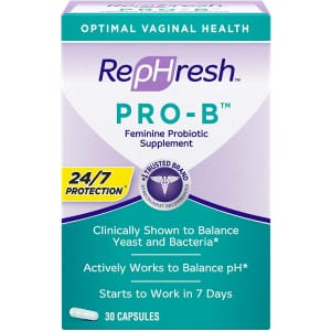 Rephresh Pro-B Feminine Probiotic Supplement 30-Capsule Bottle for $22