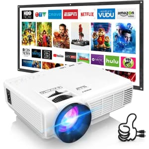 DR.J Portable Mini Projector for $80
