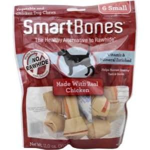 SmartBones Small Chews 6-Pack for $3.07 via Sub & Save