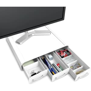 Mind Reader Monitor Stand with Desk Organizer for $19